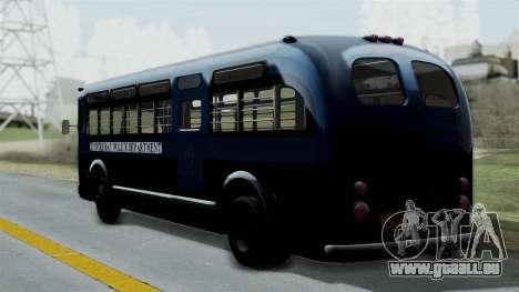 Parry Bus Police Bus 1949 - 1953 Mafia 2 pour GTA San Andreas laissé vue
