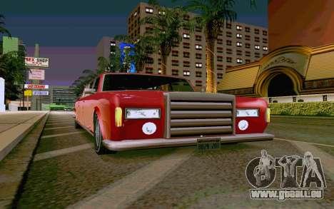 Stafford Limousine v2.0 pour GTA San Andreas sur la vue arrière gauche