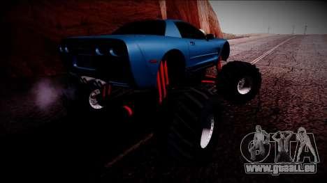 Chevrolet Corvette C5 Monster Truck pour GTA San Andreas vue de dessous