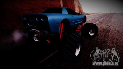 Chevrolet Corvette C5 Monster Truck für GTA San Andreas Unteransicht