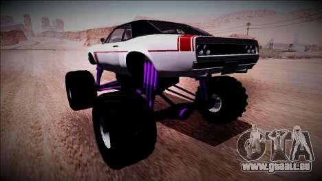 GTA 5 Declasse Tampa Monster Truck für GTA San Andreas linke Ansicht