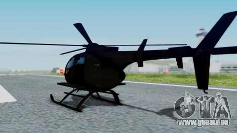 MH-9 Hummingbird Recon für GTA San Andreas linke Ansicht