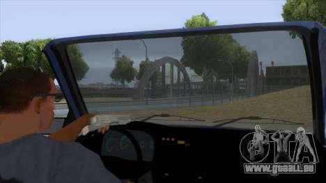 Dacia SuperNova pour GTA San Andreas vue intérieure