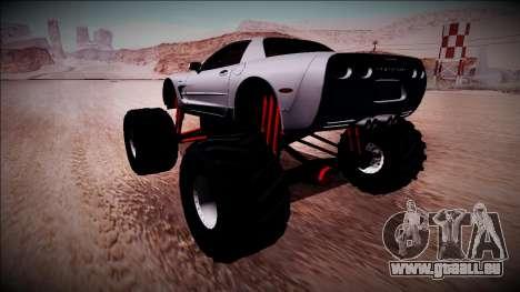 Chevrolet Corvette C5 Monster Truck pour GTA San Andreas laissé vue