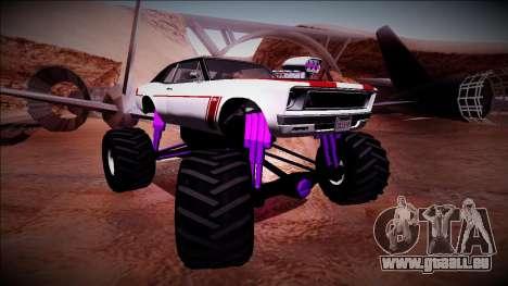 GTA 5 Declasse Tampa Monster Truck pour GTA San Andreas vue de droite