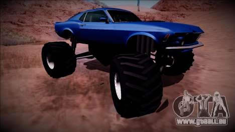 1970 Ford Mustang Boss Monster Truck pour GTA San Andreas vue de dessus