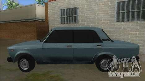 VAZ 2107 v1 pour GTA San Andreas laissé vue