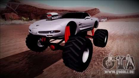 Chevrolet Corvette C5 Monster Truck pour GTA San Andreas