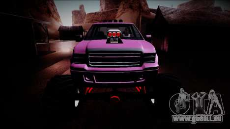 GTA 5 Vapid Sadler Monster Truck pour GTA San Andreas vue de dessus