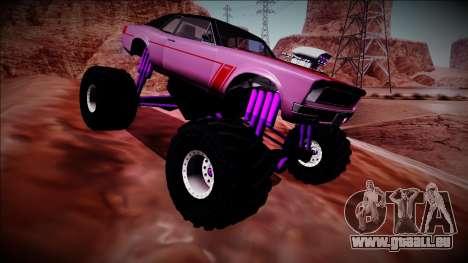 GTA 5 Declasse Tampa Monster Truck pour GTA San Andreas vue de côté
