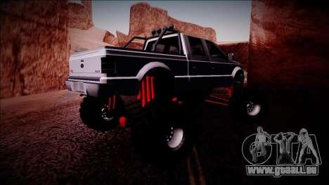 GTA 5 Vapid Sadler Monster Truck pour GTA San Andreas vue de droite
