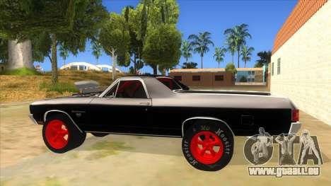 1970 Chevrolet El Camino SS Drag pour GTA San Andreas laissé vue