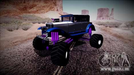 GTA 5 Albany Roosevelt Monster Truck für GTA San Andreas linke Ansicht