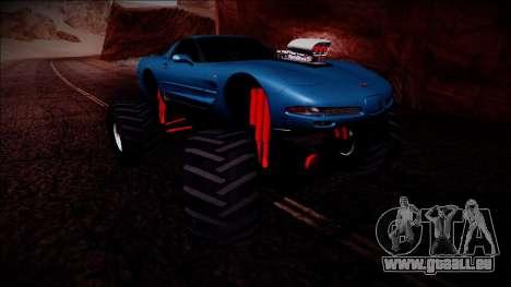 Chevrolet Corvette C5 Monster Truck pour GTA San Andreas vue de côté