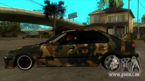 Certifié Honda Civic à partir du néerlandais TSK pour GTA San Andreas laissé vue