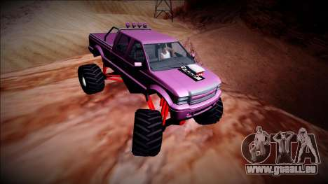 GTA 5 Vapid Sadler Monster Truck pour GTA San Andreas vue intérieure