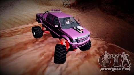 GTA 5 Vapid Sadler Monster Truck für GTA San Andreas Innenansicht