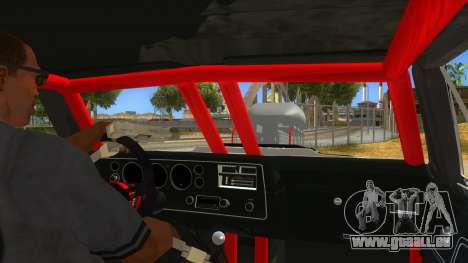 1970 Chevrolet El Camino SS Drag pour GTA San Andreas vue intérieure