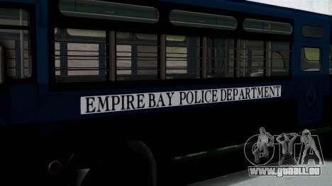 Parry Bus Police Bus 1949 - 1953 Mafia 2 pour GTA San Andreas sur la vue arrière gauche