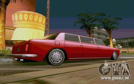 Stafford Limousine v2.0 pour GTA San Andreas laissé vue