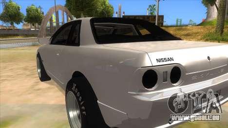 Nissan Skyline R32 Drag für GTA San Andreas zurück linke Ansicht