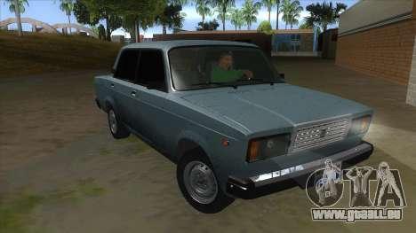 VAZ 2107 v1 pour GTA San Andreas vue arrière