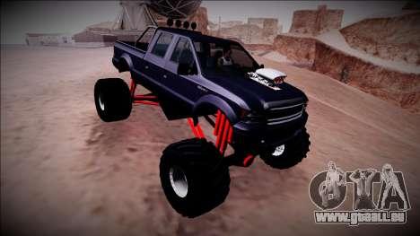 GTA 5 Vapid Sadler Monster Truck pour GTA San Andreas vue de côté