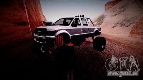 GTA 5 Vapid Sadler Monster Truck pour GTA San Andreas laissé vue