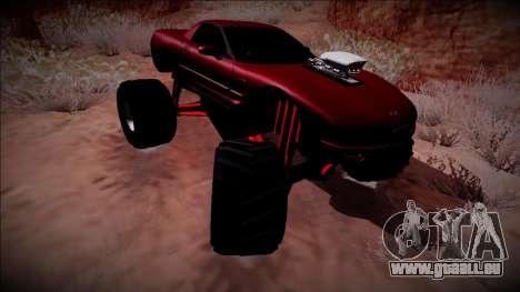 Chevrolet Corvette C5 Monster Truck pour GTA San Andreas vue intérieure