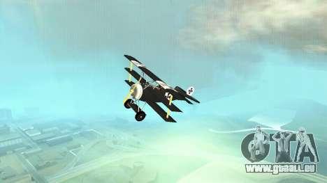 Fokker Dr1 triplane für GTA San Andreas Rückansicht