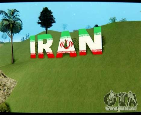 IRAN ist die Inschrift Vinewood für GTA San Andreas