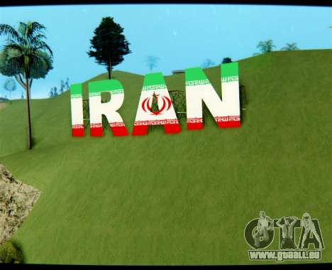 L'IRAN est l'inscription Vinewood pour GTA San Andreas
