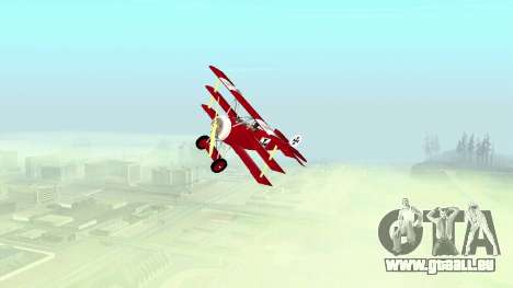 Fokker Dr1 triplane für GTA San Andreas