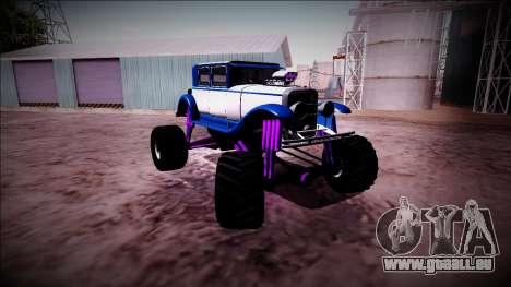 GTA 5 Albany Roosevelt Monster Truck für GTA San Andreas Innenansicht