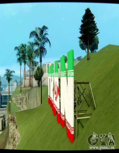 L'IRAN est l'inscription Vinewood pour GTA San Andreas deuxième écran