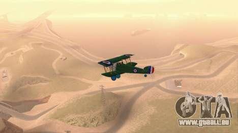 Sopwith Camel für GTA San Andreas rechten Ansicht