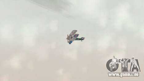 Sopwith Camel für GTA San Andreas Rückansicht