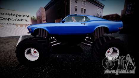1970 Ford Mustang Boss Monster Truck pour GTA San Andreas