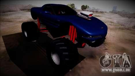 Chevrolet Corvette C5 Monster Truck für GTA San Andreas Rückansicht