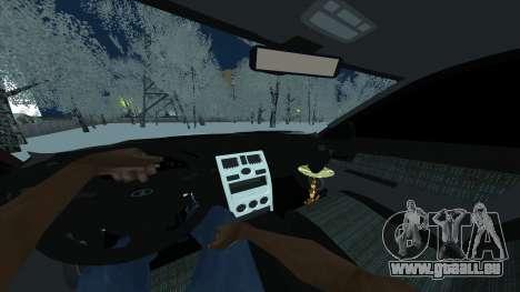 Lada 2170 Berline pour GTA San Andreas sur la vue arrière gauche