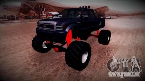 GTA 5 Vapid Sadler Monster Truck pour GTA San Andreas