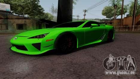 Lexus LFA für GTA San Andreas linke Ansicht