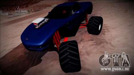 Chevrolet Corvette C5 Monster Truck pour GTA San Andreas vue de droite