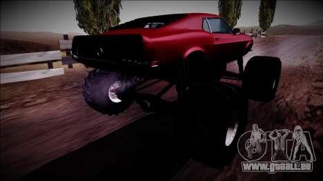 1970 Ford Mustang Boss Monster Truck für GTA San Andreas linke Ansicht