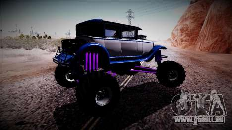 GTA 5 Albany Roosevelt Monster Truck für GTA San Andreas rechten Ansicht