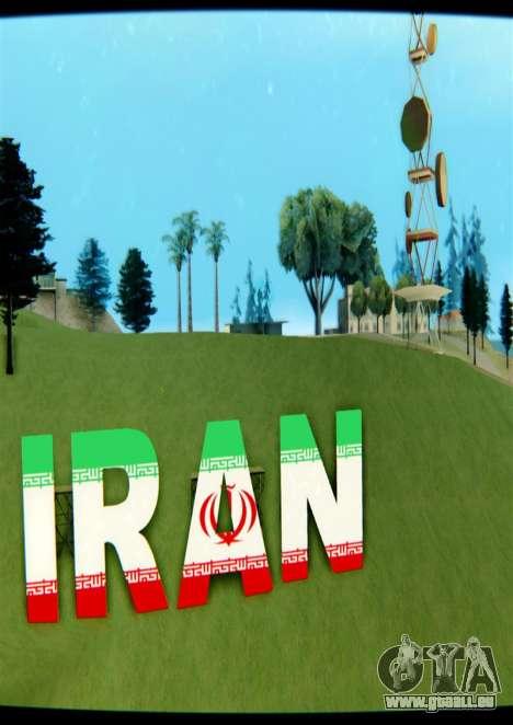 L'IRAN est l'inscription Vinewood pour GTA San Andreas troisième écran