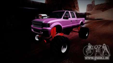 GTA 5 Vapid Sadler Monster Truck pour GTA San Andreas vue de dessous