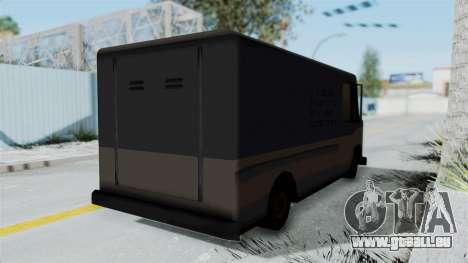 Boxville from Manhunt pour GTA San Andreas sur la vue arrière gauche