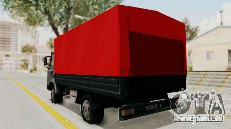 Zastava 640 pour GTA San Andreas laissé vue