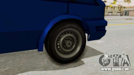 Zastava Rival Ice Cream Truck pour GTA San Andreas sur la vue arrière gauche